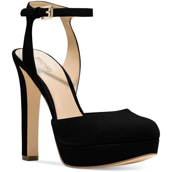 f6a25393c3cc Michael Michael Kors Trish Platform Ankle-Strap Pumps ( 145) ❤ liked on  Polyvore featuring shoes