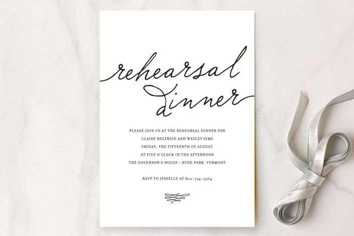 """Love Letter"" - Bold typographic, Classical Rehearsal Dinner Invitations in Espresso by annie clark."
