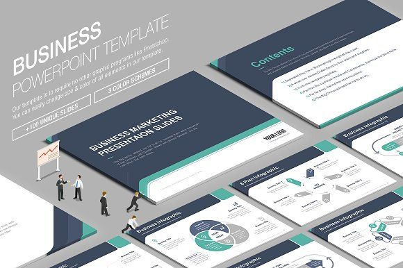 Business Powerpoint Template vol.3 by Lunik Studio on @creativemarket