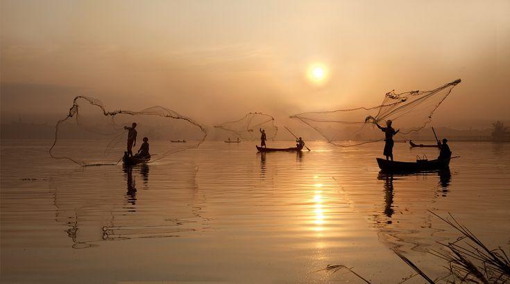 0070 Casting nets--Amarapura , Myanmar