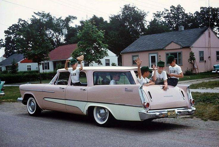 prova275:  Little League… 1958 Plymouth Custom Suburban wagon and teamMopar Monday