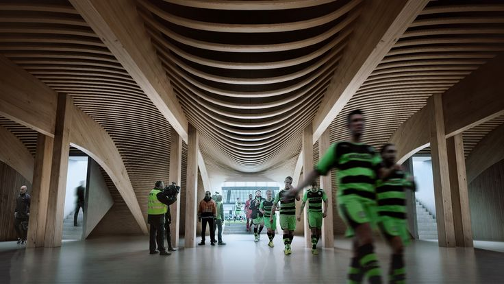 Gallery of Zaha Hadid Architects' Competition-Winning Design for Forest Green Rovers Will Be World's First All-Wood Stadium - 4