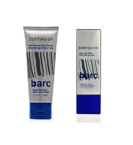 Barc Cutting Up Unscented Shave Cream 2 Oz  Barc Bump Down Razor Bump Relief AlcoholFree Unscented Lotion 17 Oz -- Want additional info? Click on the image.