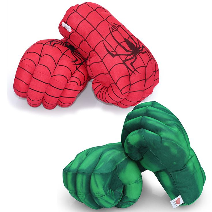 13'' Hulk Smash Hands + Spider Man Plush Gloves Spiderman Performing Props Plush The Avengers Gloves Toy 2Pcs/Pair on Aliexpress.com | Alibaba Group