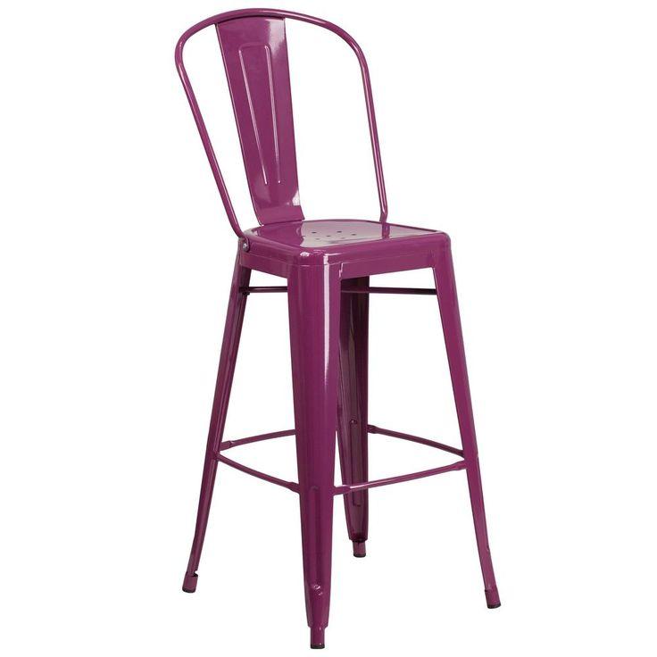 30 in. High Purple Bar Stool