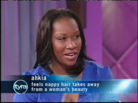 """The Tyra Banks Show - ''African American women's hair'' (Recorded May 12, 2009, WWOR)  We're getting to the root of the African-American """"good hair"""" phenomenon. Find out how hair impacts the community's culture and even self-esteem."""