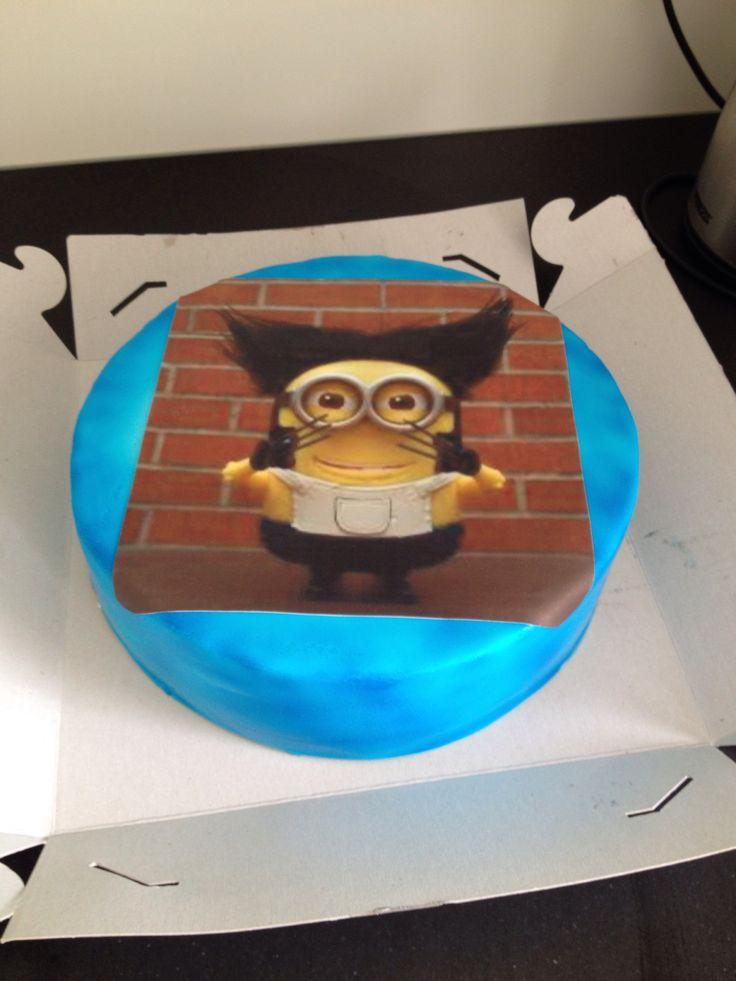 Minion Wolverine taart, augustus 2014