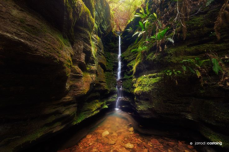 Secret Falls, Hobart, Tasmania: Named by the local walking community, it's hard to imagine that these falls are actually in the city centre of Hobart, tucked into a gully on the slopes of Mt Wellington just behind the historic Cascade Brewery. Photo by: Jarrod Castaing (https://fb.me/JarrodCastaingPhotography) http://www.jarrodcastaing.com/workshop-tasmania.php