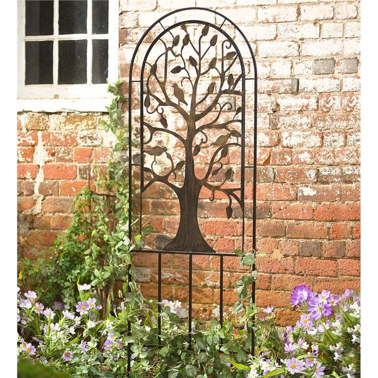 Cool Trellis Ideas Part - 49: Metal Garden Trellis With Tree Of Life Design | Arbors U0026 Trellises