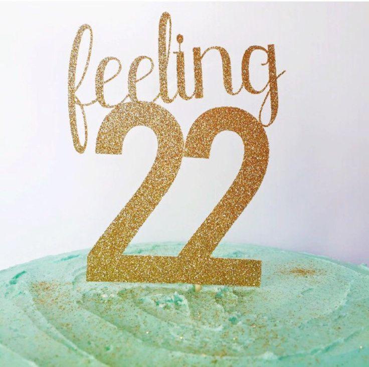 22nd Birthday Cake Topper Birthday Cake by TheLittlePopShop