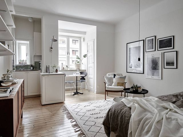 Great Uber Small But Very Charming Scandi Apartment (Daily Dream Decor) Home Design Ideas
