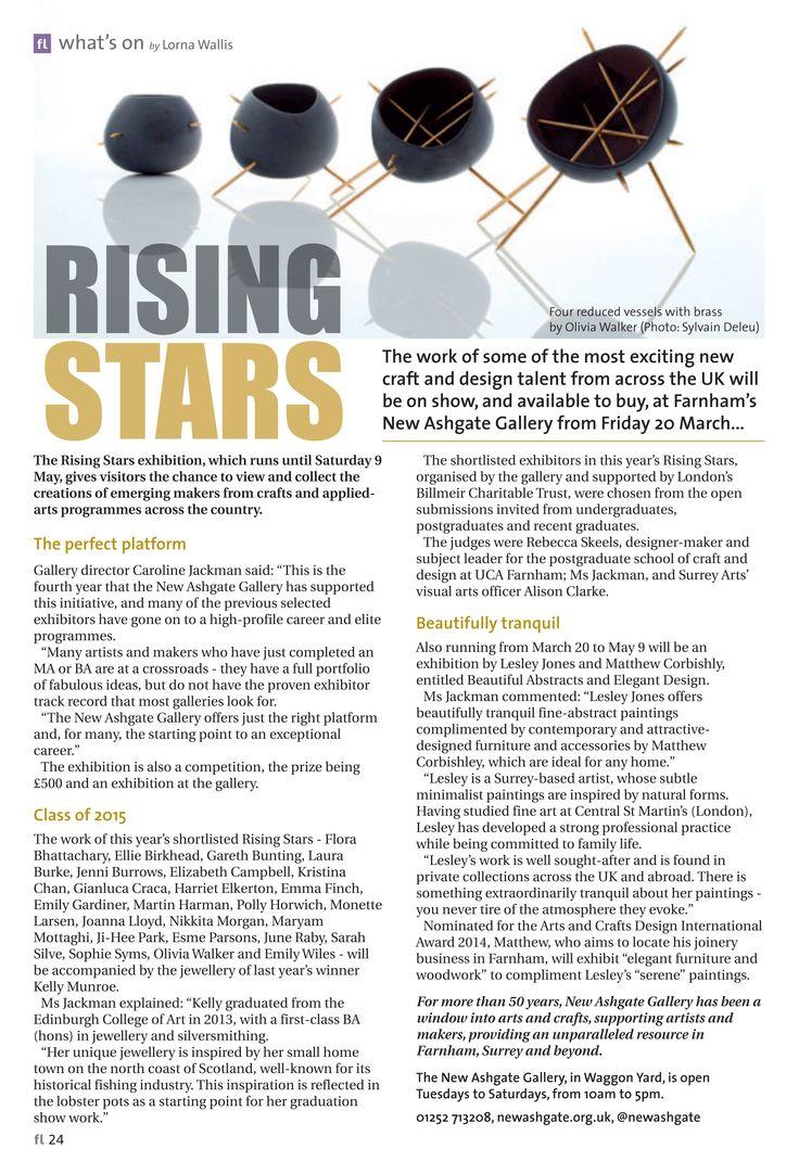 ~ Rising stars ~ Farnham's New Ashgate Gallery embraces local artistic talent #locallife #Farnham #Surrey #arts #crafts #talent #exhibition