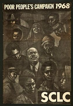 """Herman """"Kofi"""" Bailey, Poor People's Campaign, 1968. Offset lithograph. National Museum of African American History and Culture, Gift of Susan J. Helms"""