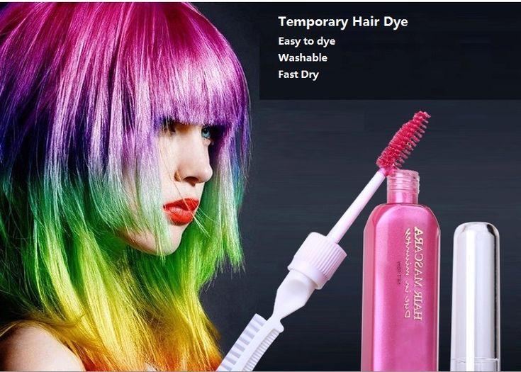 3 stück haarfarbe & TOUCH-UP mascara kreiden-für-die-haar 12 farben ungiftig temporäre haarfärbemittel mit kamm