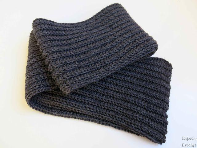 24 best bufandas para hombre images on Pinterest | Knit crochet ...