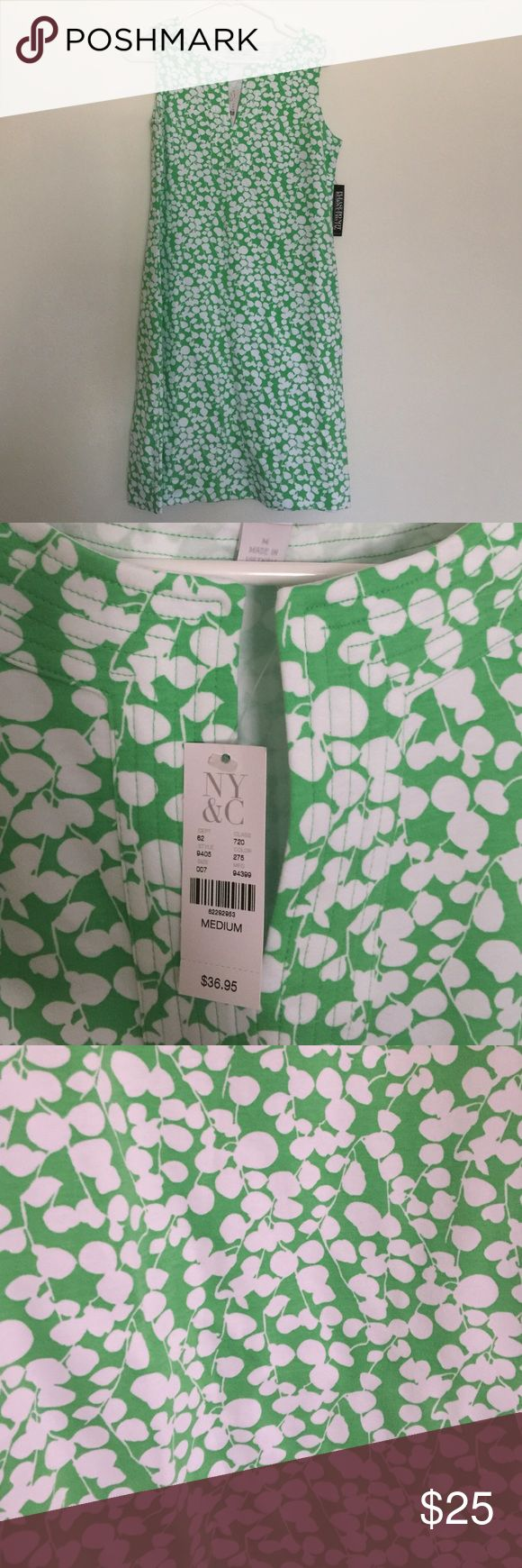 New York &a Count green shirt dress Never worn! New with tags! I'm only selling it because it's too short. I'm 6'. It hits mid thigh for anyone else. Dresses Mini
