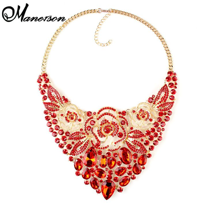 6 Color Crystal Gem Valentine's Day Luxury Noble Bridal Maxi Rhinestone Wedding  Dress Necklace Statement Collar NecklaceB4210