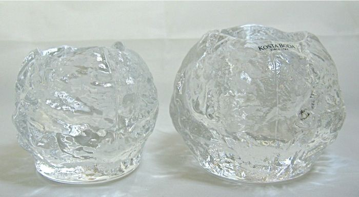 Kosta Boda Snowball Votive Holders Ann Warff