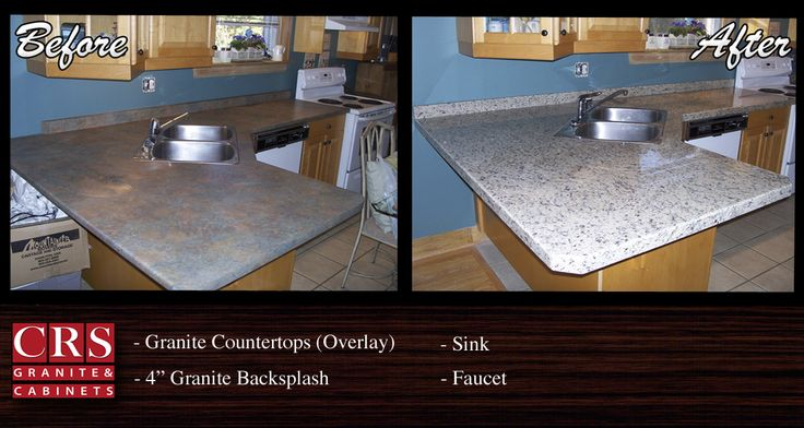 CRS Granite & Cabinets - One of our many granite overlay counter installations. Visit our website to see more photos of our completed projects!
