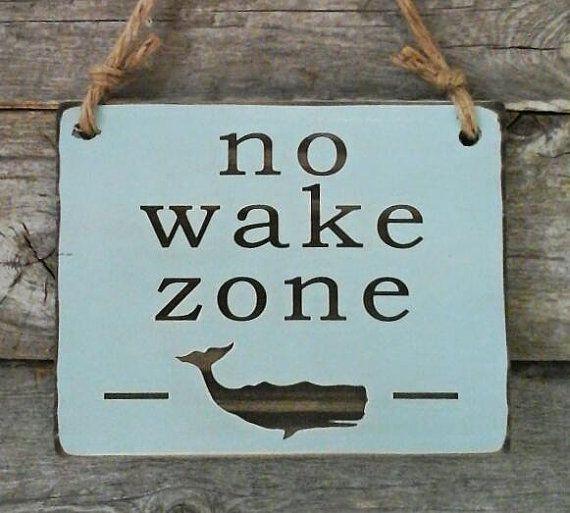 No Wake Zone Whale Sign Nursery Sign Baby Decor by edisonwood