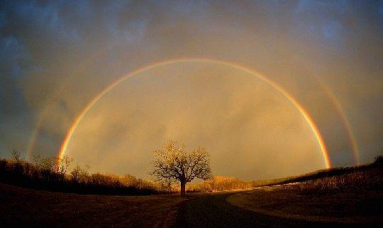 幸せになる画像 二重の虹画像(拡大表示)