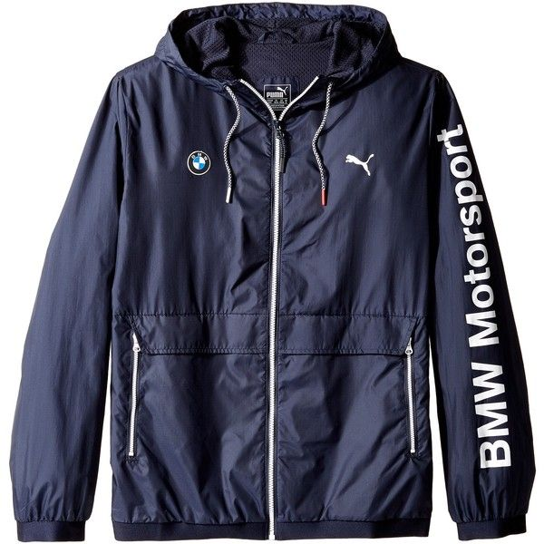 PUMA BMW MSP Lightweight Jacket (Team Blue) (105 AUD) ❤ liked on Polyvore featuring men's fashion, men's clothing, men's activewear, men's activewear jackets and blue