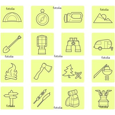 Camping Post-It Icons