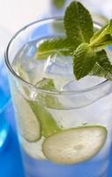 Rebujito ideale feestmix en verfrissende zomercocktail uit Spanje. Ultieme partydrink tijdens de feria in Andalusië.    Eenvoudig lekker:  - 1/3 deel Fino  - 2/3 deel koolzuurhoudende citroenlimonade (bijv. 7-Up, Sprite, etc.)  - 1 blaadje munt  - Schijfje citroen/limoen  - Veel ijs