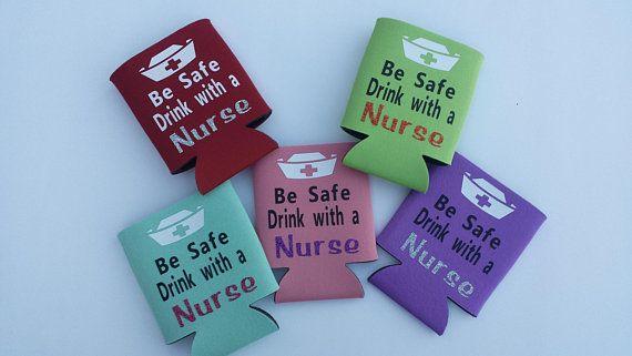 Be Safe Drink With A Nurse Can Cooler Can Holder Nurse Gift Nursing Graduate Rn Lpn Cn Glitter Lime Nurse Gifts Graduation Gifts
