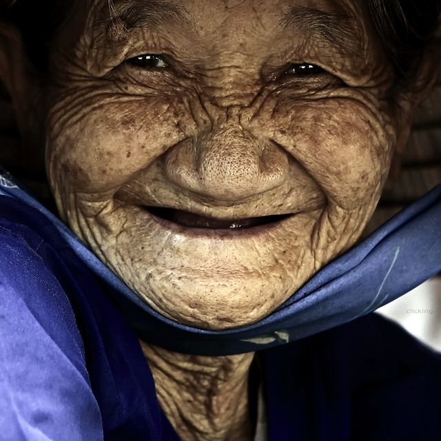 Smile (people, portrait, beautiful, photo, picture, amazing, photography, Asian woman laughing, old, elder, close up)