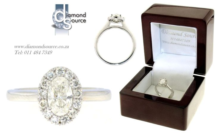 Oval Halo Design -  This is another one of our most recent commissions featuring an Oval shape diamond halo engagement ring design. This engagement ring we crafted from 18ct. White Gold set with a 0.50ct. Oval shape centre diamond. Please email or call us with any queries. FREE QUOTATIONS on any jewellery design you require. E: info@diamondsource.co.za W: www.diamondsource.co.za T: 011 484 7349