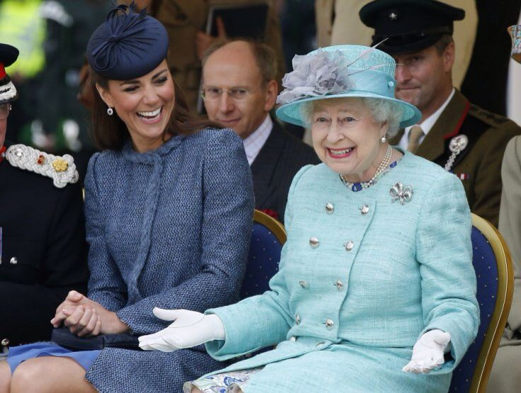 Kate and the Queen Elizabeth II