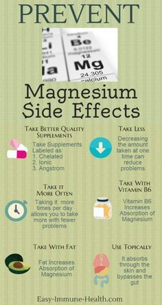 Prevent Magnesium Side Effects with a few simple strategies. <a…