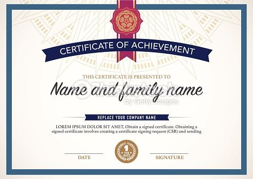 Vector Art : certificate design template.