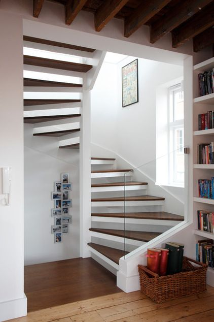 Contemporary Staircase By Robert Rhodes Architecture + Interiors Nice  Flowing Staircase But A Bit Modern