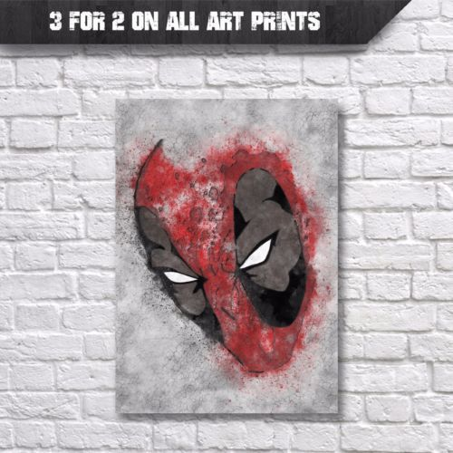Deadpool-Poster-Marvel-Street-Art-Wall-Art-Print-A4-Prints