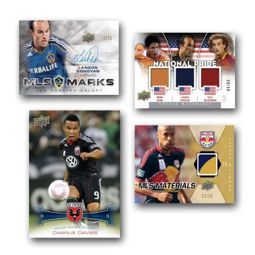 MLS 2012 Upper Deck Soccer Retail (36 Packs) by Upper Deck. $34.99. Find one (1) jersey card in every box, on average. 36 packs of 6 cards per box. PRODUCT HIGHLIGHTS: * Find one (1) jersey card in every box, on average * Look for the first cards of Robbie Keane * Look for trade cards for Upper Deck Soccer Update cards 36 packs of 6 cards per box