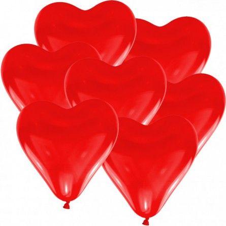 """Hochzeitsballons """"Herz"""" (10 Stück) - rot"""
