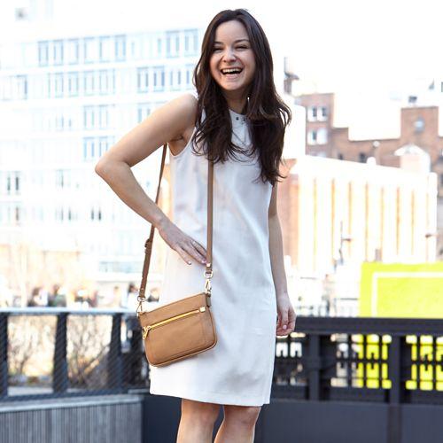 A hike across the Highline in heels with a haute handbag.