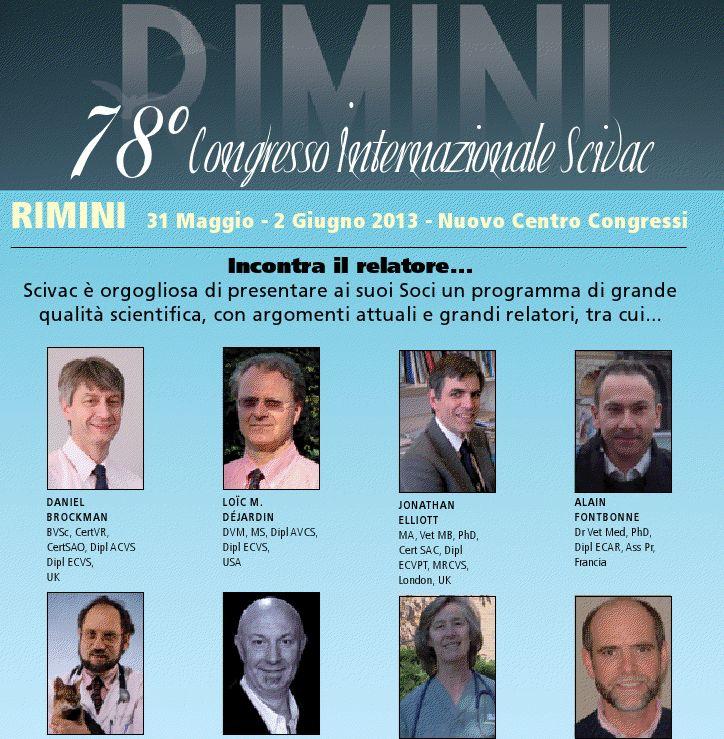SCIVAC 2013 Offerta Hotel Palacongressi Rimini Programma.  Congresso Internazionale SCIVAC Palacongressi di Rimini dal 31 Maggio al 2 Giugno 2013. Hotel 3 stelle
