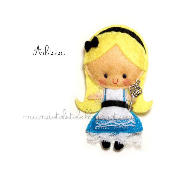 Alice from Alice in Wonderland, #felt.