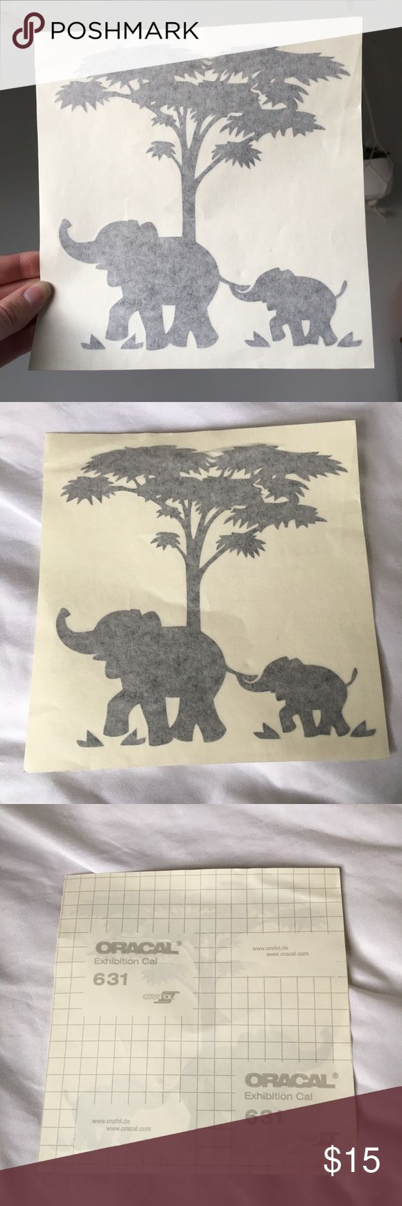Elephant Laptop Decal Super cute if you have a Mac, the first elephant is supposed to be holding the apple with its trunk. Never used. Accessories Laptop Cases #applelaptops