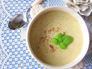 Zupa serowa z grillowanymi brokułami