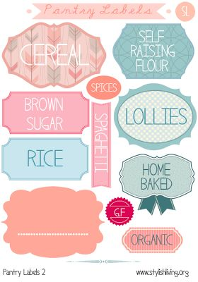 FREE Printable Pantry Labels! <3