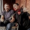 Kane Hodder and author Michael Aloisi on the set of the photo shoot for Kill!  Kane's biography.  Both came on in 2011