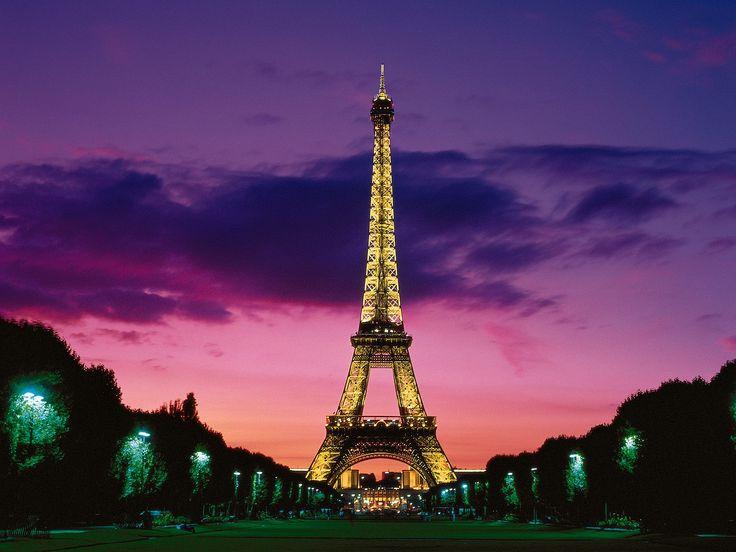 Eiffel Tower at Night - Paris, France.