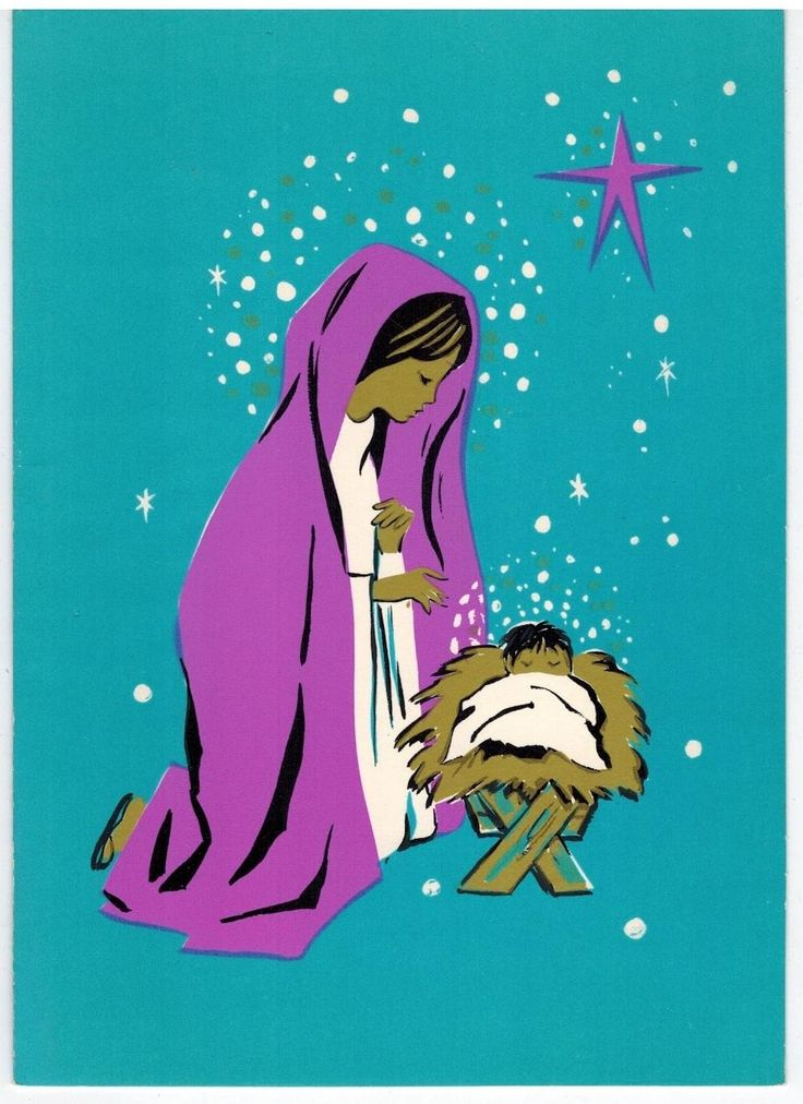 97 Best Mod Religious Christmas Cards Images On Pinterest