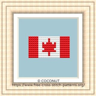 NATIONAL FLAG OF CANADA CROSS STITCH CHART
