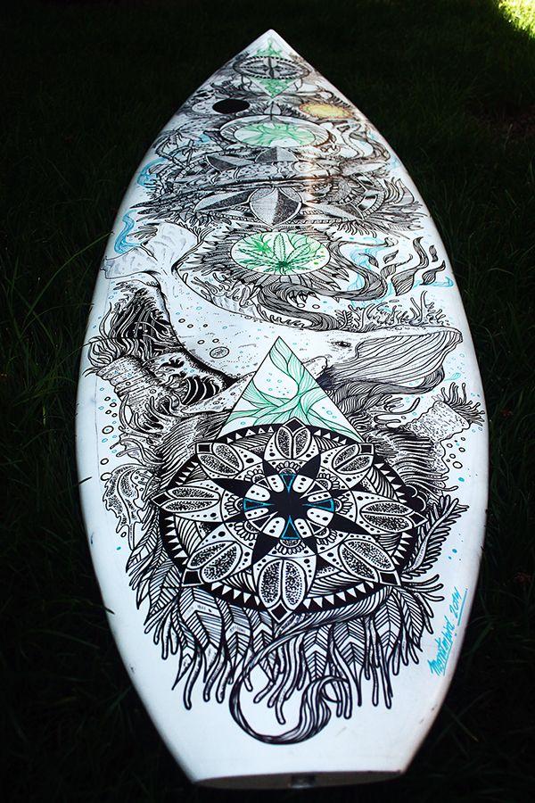 Tabla de Surf Ilustrada. en Behance