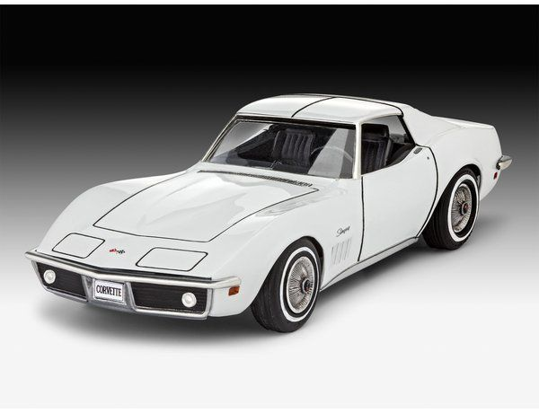 The Revell 1/32 Chevrolet Corvette C3 Model Kit Starter Set from the plastic car model kits range accurately recreates the real life American car.